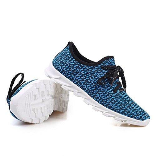 Nouvelle Sneakers Hommes Chaussures De Sport Respirant Chaussures De Course Casual Chaussures De Sport Bleu
