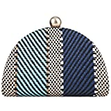 Fawziya Clutch Purse Straw Clutches And Evening Bags-Blue