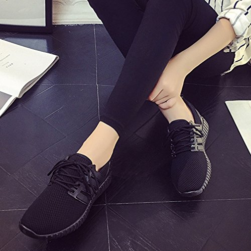 Red Lace Spring Shoes Flat Breathable American Shoes Sports Autumn and and Mesh Casual Shoes ANI Black European Shoes xnqwIO60W8