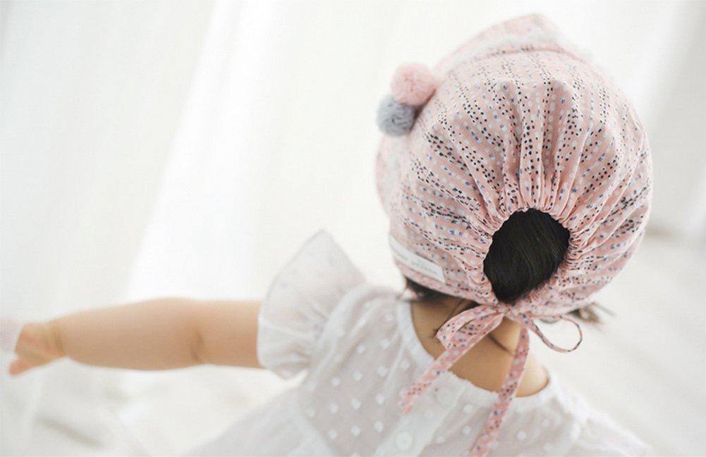 kanggest Berretto di Cotone della principessa del bambino cappello del sole della ragazza del Hairball per el di Escursione della Spiaggia accessori della Fotografia Un tama/ño #1