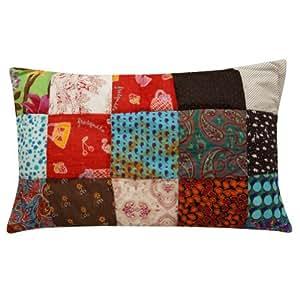decorativo impostor de la almohadilla / el caso decoración del hogar del algodón multicolor mosaico tirar india 28 x 17 pulgadas ''