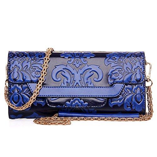 estilo chino del embrague en relieve/La Sra paquete Mensajero del hombro/bolsa de la cadena/paquete de banquete simple retra-C D