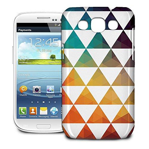 Phone Case For Samsung Galaxy Win I8550 - Geometric Triangle Rainbow Glossy Wrap-Around