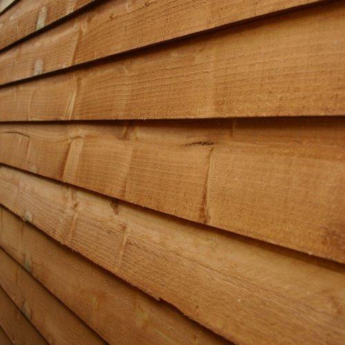 Wooden Overlap Apex Garden Shed with Double Door