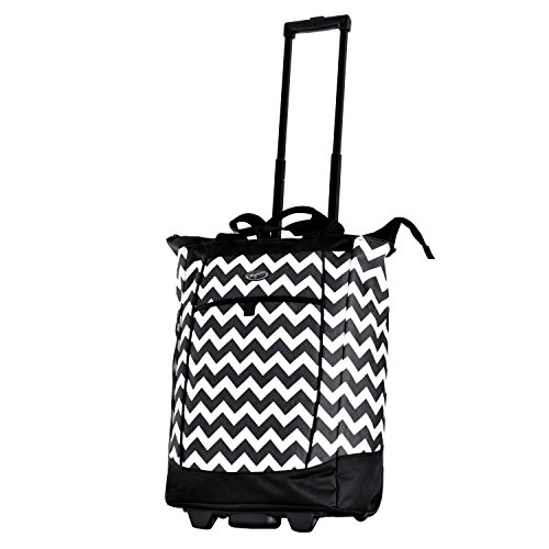 Olympia Fashion Rolling Shopper Tote - Chevron, 2300 cu. in. by Olympia
