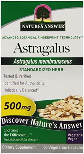 Nature s Answer Astragalus Root Vegetarian Capsules, 60-Count