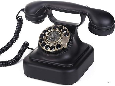 ZBHW Teléfono clásico de época con Esfera giratoria Teléfono ...