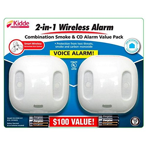 Kidde Wireless Interconnected Battery Operated Combination Smoke and Carbon Monoxide Alarm (Kidde Carbon Operated Battery)