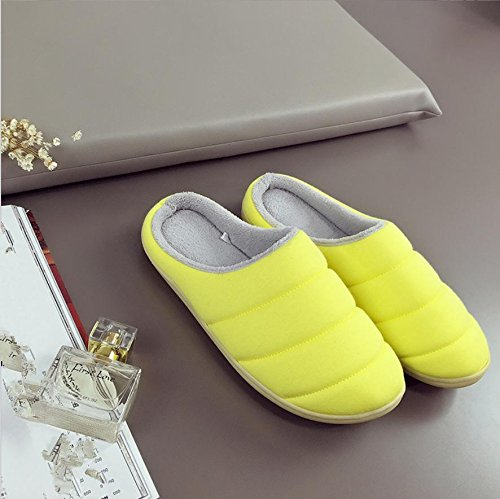 Casual Mhgao Y Para De El Interior Otoño Amarillo Amarillo Señoras Caliente Algodón Mantener Invierno Mediano Zapatillas En prtpqP