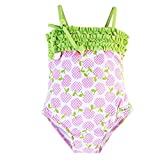 Azul Baby Girls Pink Green Garden Of Eden Print One Piece Swimsuit 12M