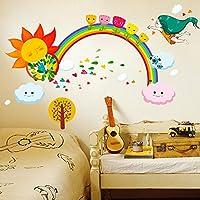 Brandream Colorful Kids Wall Sticker Cute Rainbow Wall...