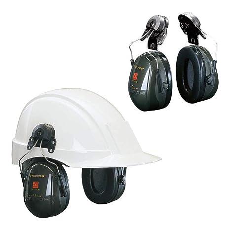 3M PELTOR Optime II Orejeras para casco Verdes 30 dB (1 orejera ...