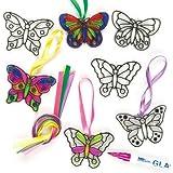 Mini Farfalle Acchiappasole per Bambini da Realizzare, Personalizzare ed Esporre (confezione da 12)