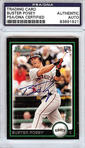 Buster Posey Signed 2010 Bowman Rookie Card #BDP61 San Francisco Giants - PSA/DNA Authentication - Autographed MLB Baseball Cards from Sports Collectibles