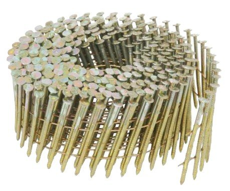2-1/4 in. x 0.092 Ring 3.6M Electro galvanized Round-Head Wire Coil Siding Nails (3,600-Box)