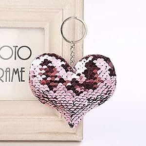 Amazon.com: Mct12-1 - Llavero con diseño de corazón y ...
