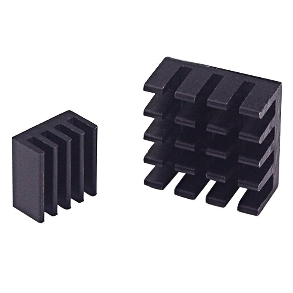 CJRSLRB 20Pcs Aluminum Raspberry Pi Heatsink + 5Pcs Copper Pad Shims Cooler with 3M Thermal Conductive Adhesive for Raspberry Pi 3 B+, Pi 3 B, Pi 2, Pi Model B+ Cooling