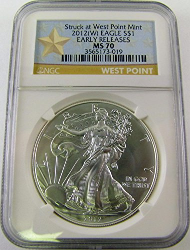 2012 W West Point Silver Eagle Early Release $1 MS70 NGC
