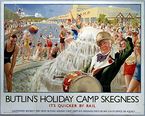 Media Storehouse 10x8 Print of Butlin s Holiday Camp, Skegness, LNER Poster, 1930 ()