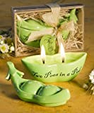 "Porcelain ""Two Peas in a Pod"" Candle Wedding Favors - Qty. 1"