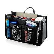 Insert Bag Organizer, Bag in Bag for Handbag Purse Organizer (13 Pockets, Black), Large