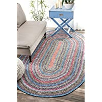 nuLOOM Casual Handmade Braided Cotton Oval Area Rug