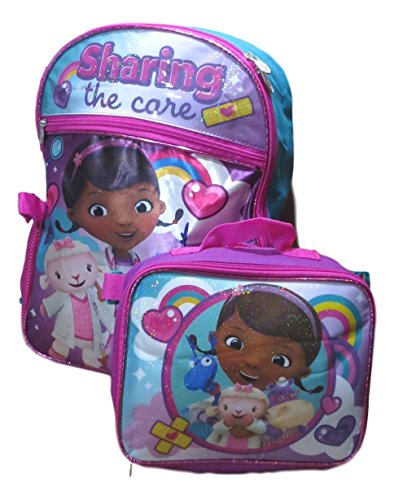 Doc McStuffins Backpack with Detachable Lunch Bag 2pc Set