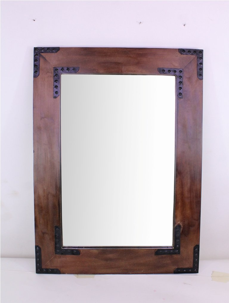 Hosley Wooden Frame Mirror- 26'' High. Ideal for Weddings, Special Occasions, and for Wall Decor, Home, Spa, Aromatherapy, Reiki. P2 by Hosley