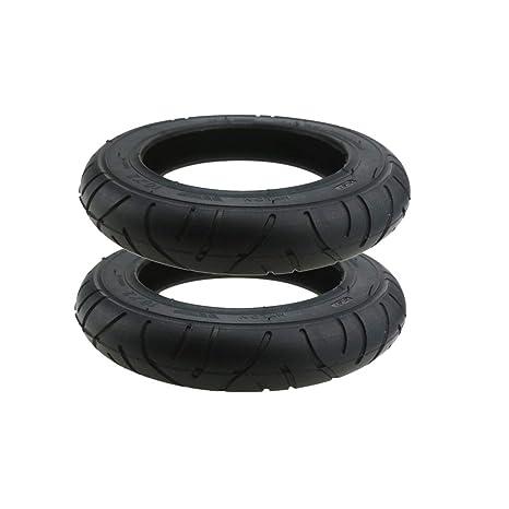 TOOGOO 2 Unids para M365 10 Pulgadas Neumático de Scooter Eléctrico 10 X 2 Neumático Sólido Neumático Neumático Wanda
