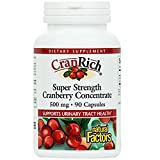 Natural Factors - CranRich Super Strength Cranberry Concentrate 500mg, Supports Urinary Tract Health and Helps Prevent Bacteria, 90 Capsules