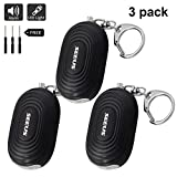 SEEUS Personal Alarm, Emergency Self-Defense Security Alarms with 2 LED Light, 120 dB Safe Sound Personal Alarm Keychain for Elderly Women Kids Night Workers (3 Pack)
