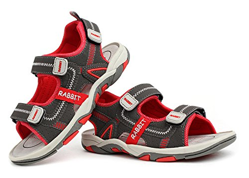 3STEAM Jungen Sommer Sandalen Outdoor Sport Strand Schuhe Red