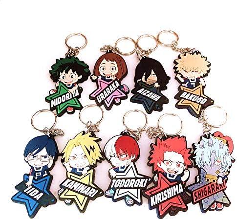 C-3pc Boku No Hero Academia My Hero Academia Keychain Key Ring BNHA Key Chain MHA Keychain