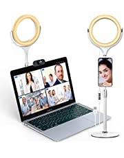 Elitehood 8'' Ring Light for Laptop Computer, Desk Ring Light with Metal Stand and Phone Holder, LED Circle Light for Video Conference Lighting, Zoom Lighting, Webcam Light, Video Recording Lighting