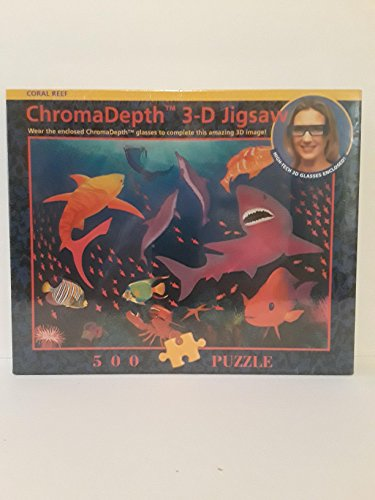 Chroma Depth 3-D Jigsaw Puzzle - Coral Reef 500 pieces Blue Opal Special Edition