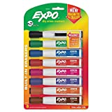 expo pack - EXPO 1944741 Magnetic Dry Erase Marker Chisel Tip Assorted 8/Pack