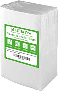 MaiFlaFre 200 Pint 6X10 Food Saver Vacuum Sealer Bags with Commercial Grade, BPA Free, Heavy Duty.Vacuum Sealer Freezer Bags Compatible with Any Types Vacuum Sealer