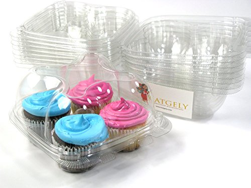 Katgely Cupcake Boxes Containers Pack