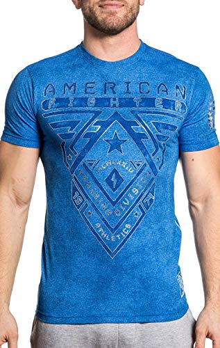 American Fighter Men's Crossroads Artisan Short Sleeve MT Tee Royal Tea Satin XXX-Large