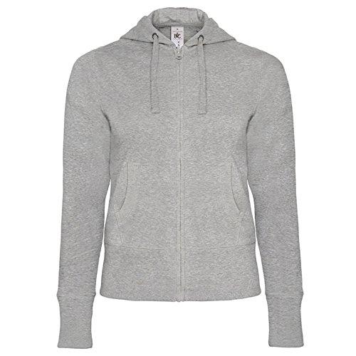 B&C Collection - Sudadera con capucha - para mujer gris
