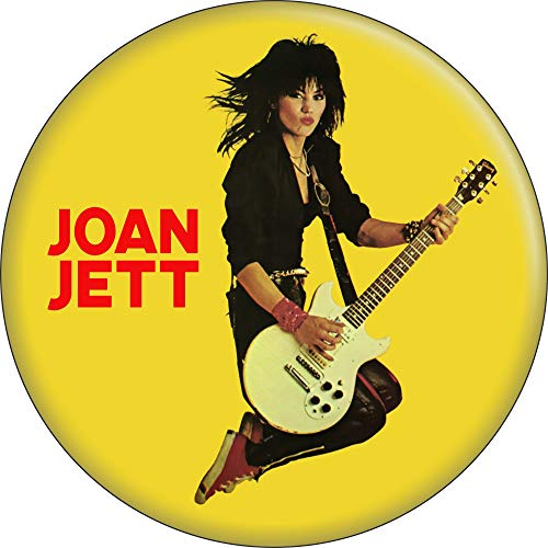 """Joan Jett & The Blackhearts - Jumping with Guitar - 1.25"""" Round Button"""