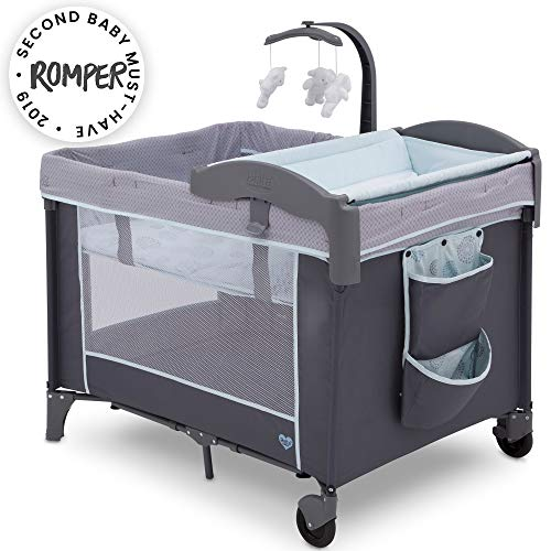 Delta Children LX Deluxe Portable Baby Play Yard With Removable Bassinet and Changing Table, Eclipse from Delta Children