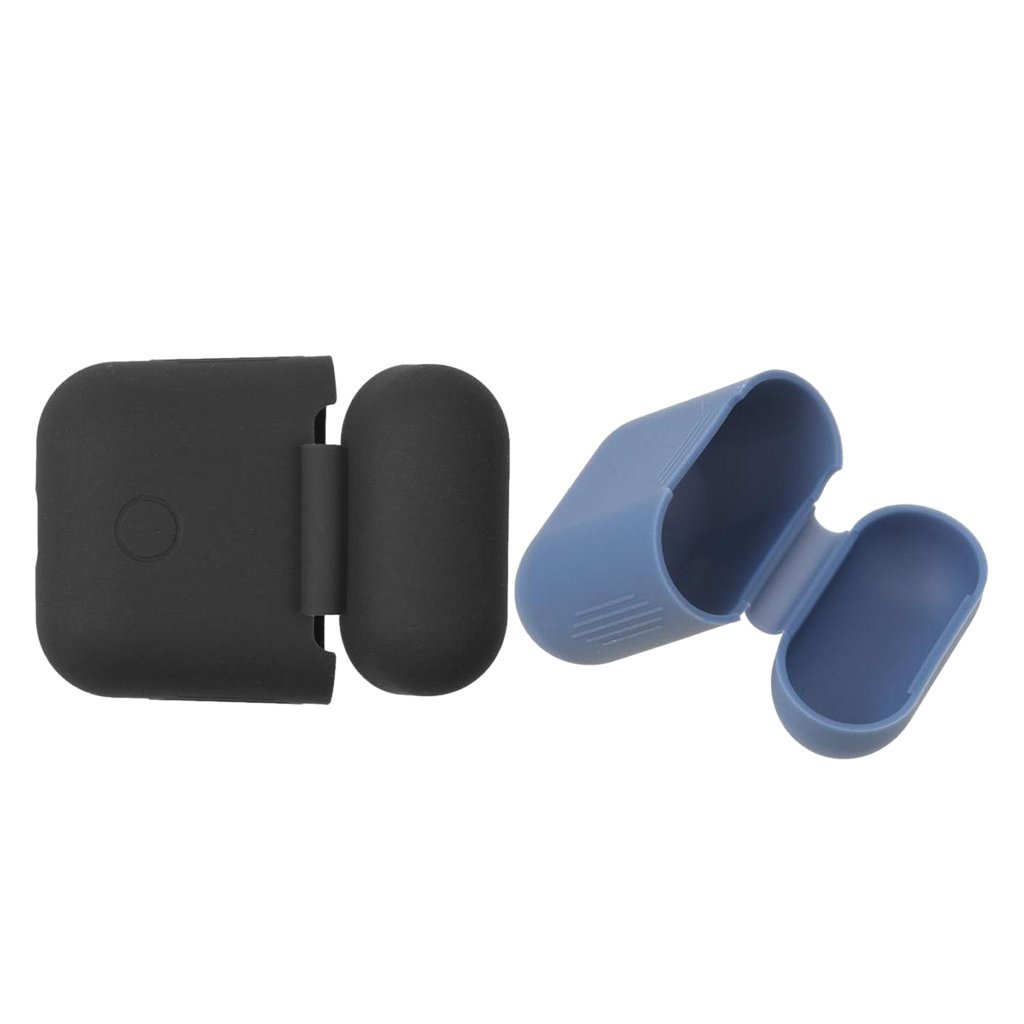 Jili Online 2pcs Silicone Shockproof Protective Case Cover Replacement for Apple AirPods