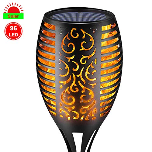 Pier 1 Halloween Lights (Eastred SolarLightsOutdoor Flickering Flame Dancing Waterproof Landscape Decoration Lighting Dusk to Dawn Auto On Off Security Solar Torches for Garden Patio Yard Driveway 1)