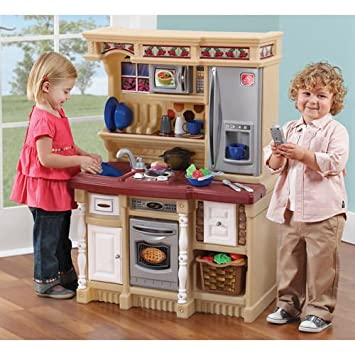 Amazon.com : Kids Play Kitchen Set Toddler Cooking Pretend Toy ...