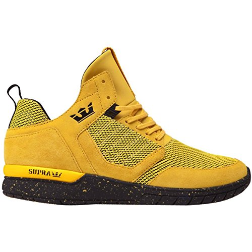 Black Yellow Sneakers (Supra Men's Method Shoes,Size 10.5,Goldenrod/Black)