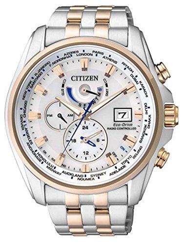 Citizen Herren-Armbanduhr Analog Quarz Edelstahl beschichtet AT9034-54A
