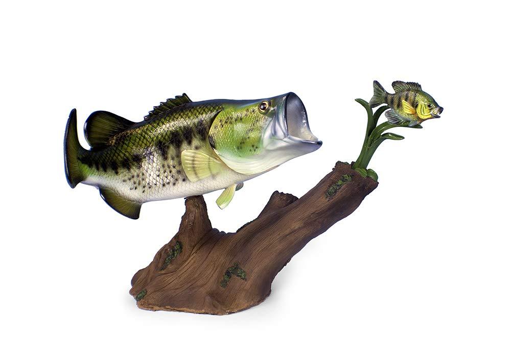 Land & Sea Taxidermy 20'' Fiberglass Striking Bass Sculpture Statue