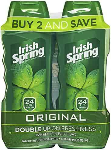 Irish Spring Body Wash for Men, Original- 18 ounce (2 count)