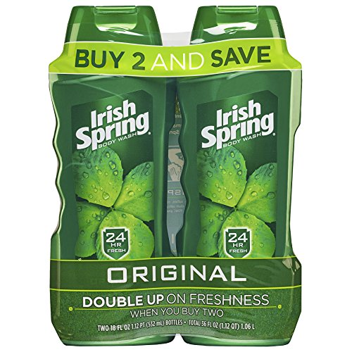 Price comparison product image Irish Spring Body Wash for Men, Original- 2 Count of 18 ounce bottles